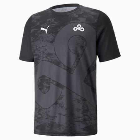 Réplica de camiseta PUMA x CLOUD9 para hombre, Puma Black-Dark Shadow, pequeño