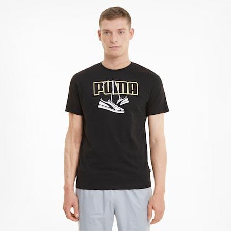 Sneaker Inspired Men's Tee, Puma Black, small-SEA