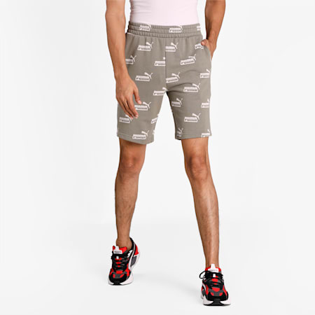 Amplified Printed Men's Shorts, Vetiver, small-IND