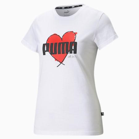 Valentine's Heart Tee, Puma White, small
