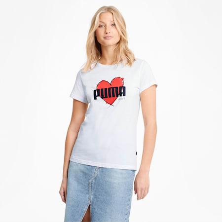 Heart damesshirt, Puma White, small