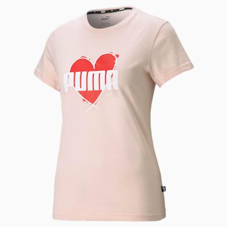 Valentine's Heart Tee, Cloud Pink, small-SEA