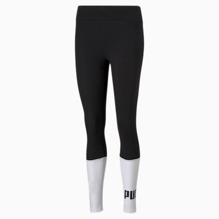 Essential+ Colourblock Women's Leggings, Puma Black, small-IND