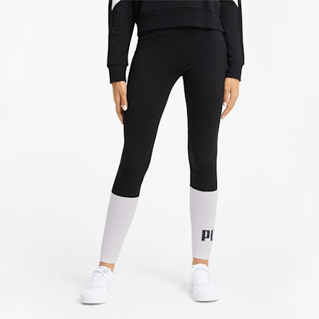 Essentials+ Colourblock Women's Leggings, Puma Black, small-GBR