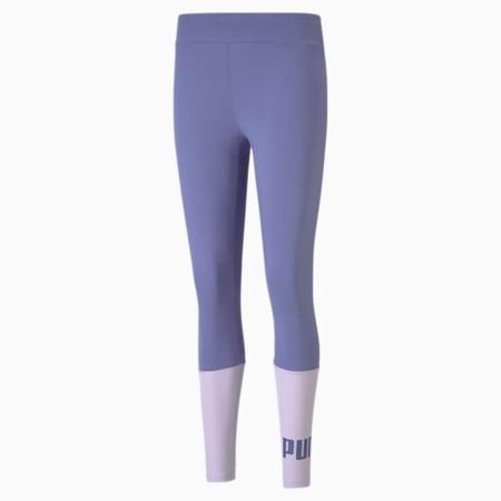 Essentials+ Colourblock Women's Leggings, Hazy Blue, small