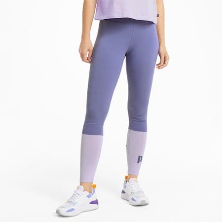 Damskie legginsy Essentials+ w bloki kolorów, Hazy Blue, small