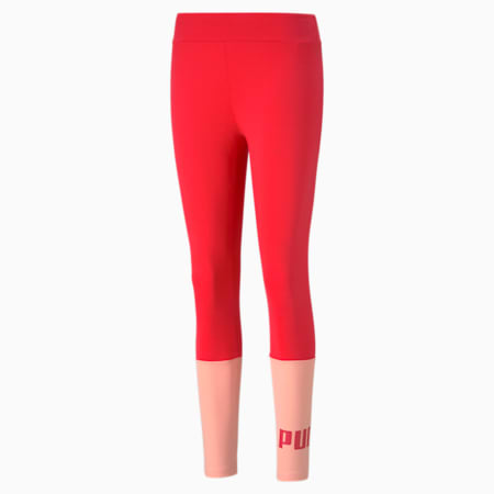 Essentials+ Colourblock Women's Leggings, Poppy Red, small