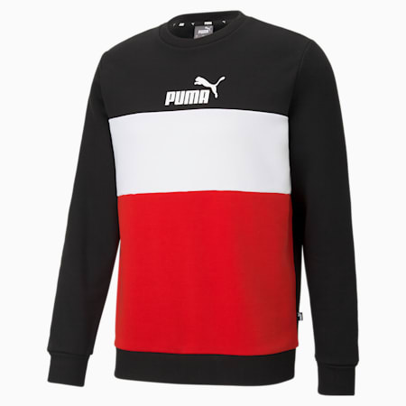 Essentials+ Crew Neck Men's Sweatshirt, Puma Black, small