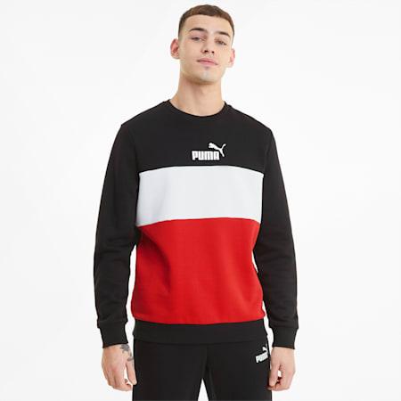 Essentials+ Herren Sweatshirt mit Rundhalsausschnitt, Puma Black, small