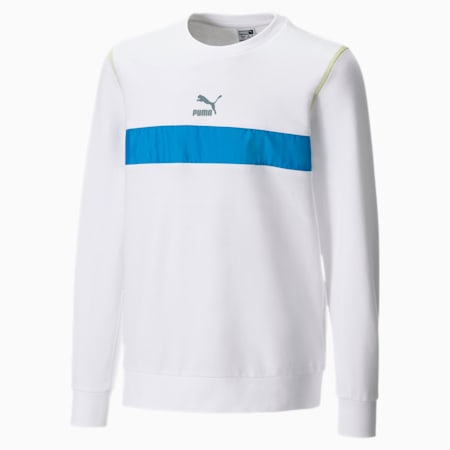 Crew Neck Kids' Sweater, Puma White, small
