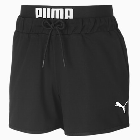 Knitted Women's Sweat Shorts, Puma Black, small