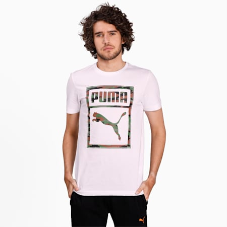 Camo Box Men's T-Shirt, Puma White, small-IND