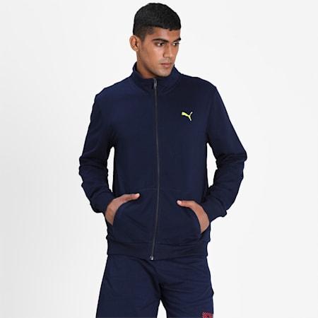 Camo Box Graphic Full-Zip Men's Sweatshirt, Peacoat, small-IND