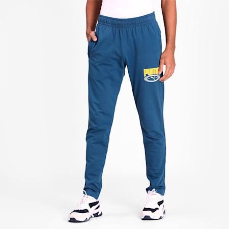 PUMA Graphic Pants, Dark Denim, small-IND