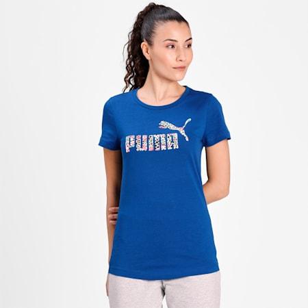 PUMA Leopard Logo Women's T-Shirt, Limoges, small-IND