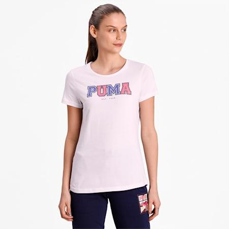 PUMA Collegiate Graphic Women's T-Shirt, Puma White, small-IND