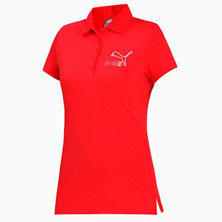 PUMA No1 Colored Logo Polo, High Risk Red, small-IND