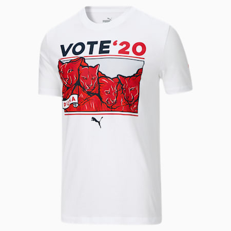 Election Day Men's Tee, Puma White, small
