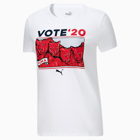 Election Day Women's Tee, Puma White, small