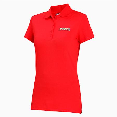 PUMA Collegiate Graphic Women's Polo, High Risk Red, small-IND