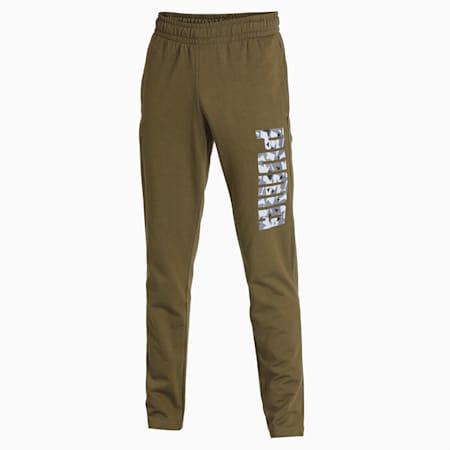 PUMA Camo Men's Pants, Dark Olive, small-IND