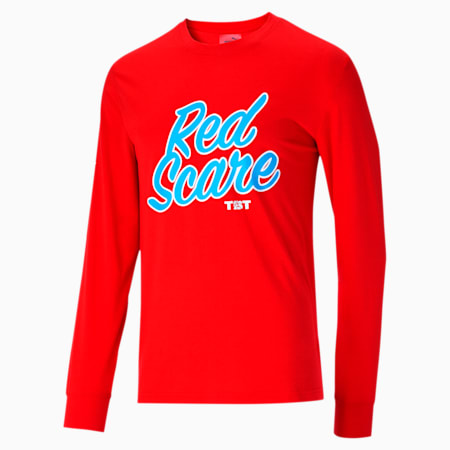 Camiseta de mangas largas del equipo TBT para hombre, High Risk Red, pequeño