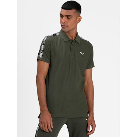 Tape Pique Men's Polo, Forest Night Heather, small-IND
