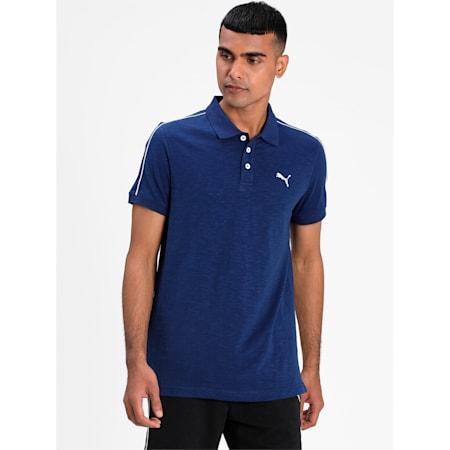 Slub Jersey Men's Polo, Elektro Blue, small-IND