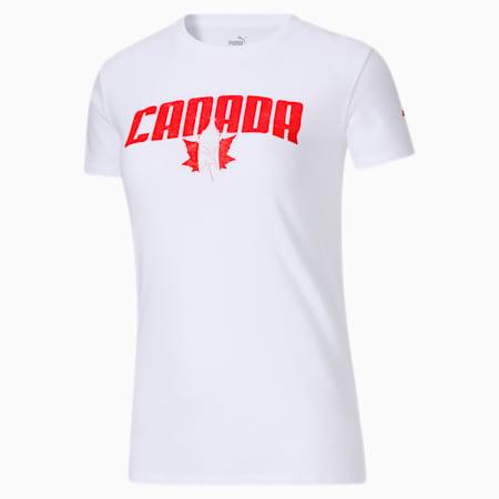 T-shirt de la Fête du Canada, femme, Blanc Puma, petit