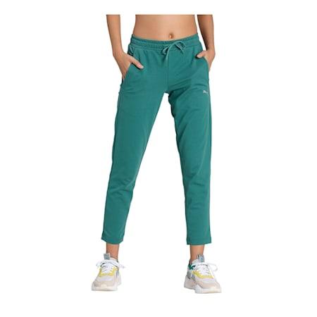 PUMA Women's 7/8 Slim Pants, Blue Spruce, small-IND