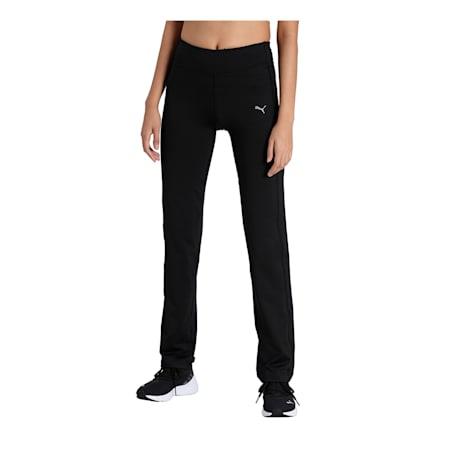 PUMA Straight Leg Women's Pants, Puma Black, small-IND