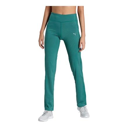 PUMA Straight Leg Women's Pants, Blue Spruce, small-IND