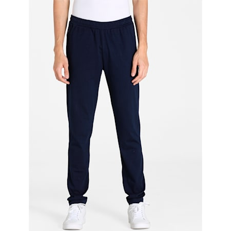 Zippered Knitted Men's Jersey Sweat Pants, Peacoat, small-IND