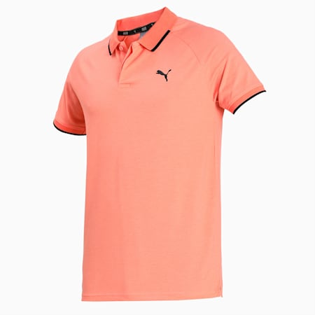 Pique Polo, Fusion Coral Heather, small-IND