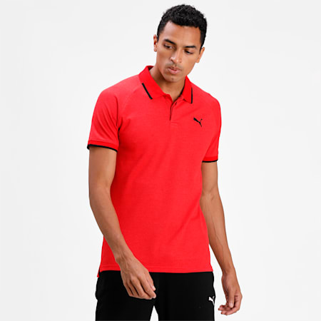 Pique Polo, High Risk Red Heather, small-IND