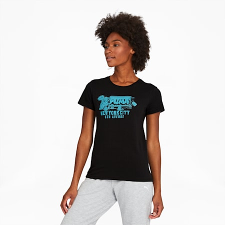 NYC Truck Women's Tee, Puma Black, small