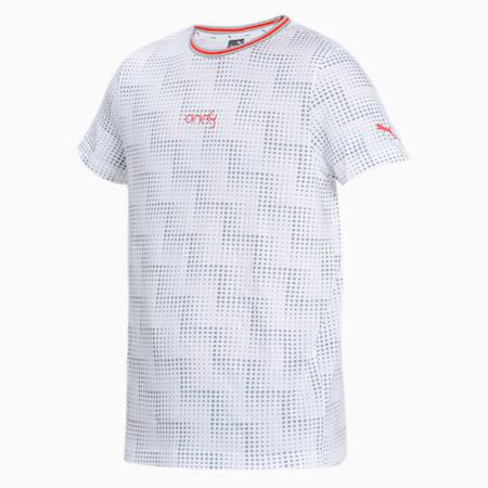 one8 Virat Kohli Men's AOP Slim T-Shirt, Puma White, small-IND