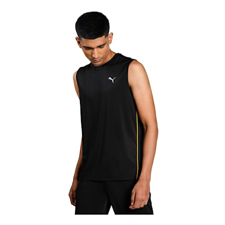 one8 Virat Kohli Men's Sleeveless  T- Shirt, Puma Black, small-IND