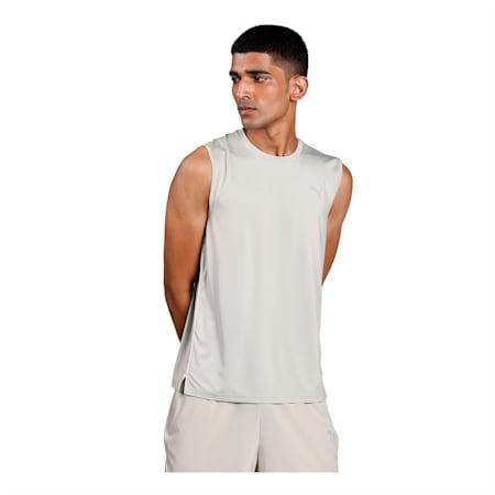 one8 Virat Kohli Men's Sleeveless  T- Shirt, Desert Sage, small-IND