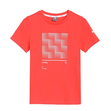 one8 Virat Kohli Boys Graphic T- Shirt, Hot Coral, small-IND