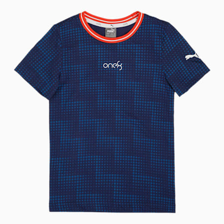 one8 Virat Kohli Boy's AOP  T - Shirt, Elektro Blue, small-IND
