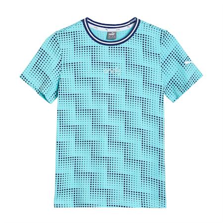 one8 Virat Kohli Boy's AOP  T - Shirt, Angel Blue, small-IND