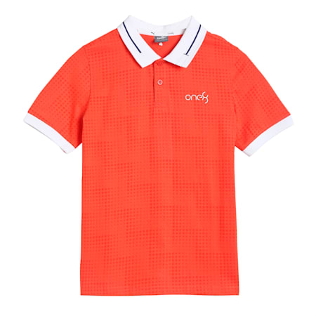 one8 Virat Kohli AOP Boy's Polo, Hot Coral, small-IND