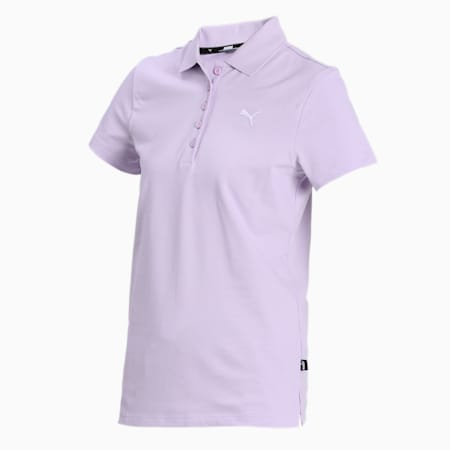 PUMA Regular Fit Women's Polo, Light Lavender, small-IND