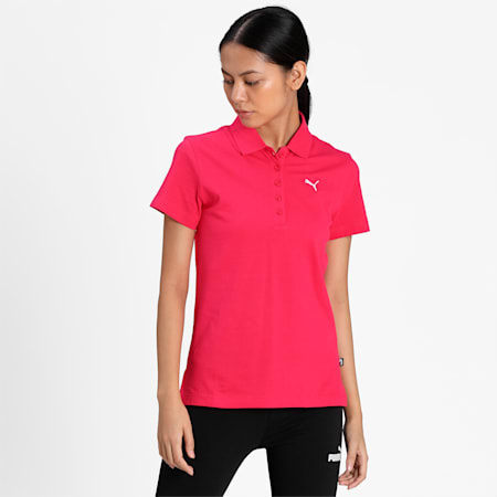 PUMA Regular Fit Women's Polo, Love Potion, small-IND