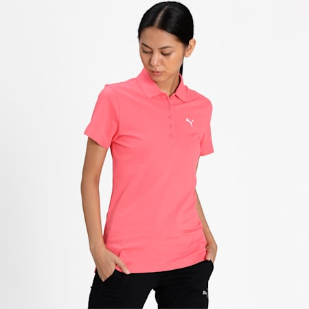 PUMA Regular Fit Women's Polo, Sun Kissed Coral, small-IND
