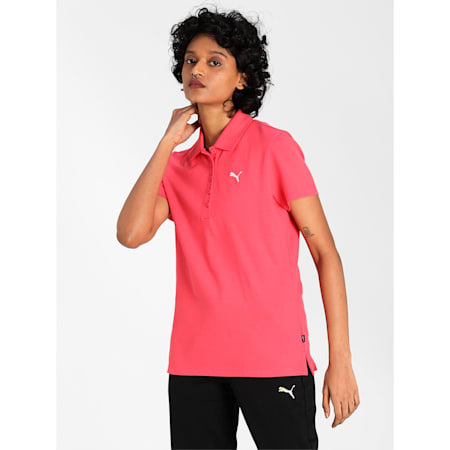 PUMA Regular Fit Women's Polo, Paradise Pink, small-IND