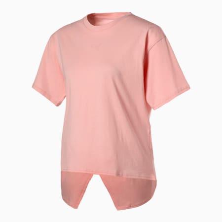HER オープンバック 半袖 Tシャツ ウィメンズ, Peachskin, small-JPN