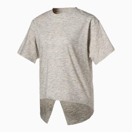 HER オープンバック 半袖 Tシャツ ウィメンズ, Puma White Heather, small-JPN
