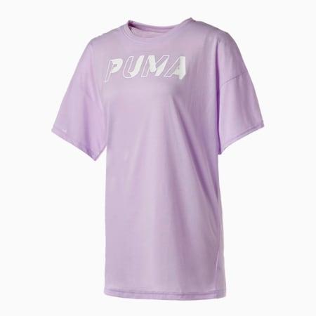 モダン スポーツ チュニック Tシャツ ウィメンズ, Light Lavender, small-JPN